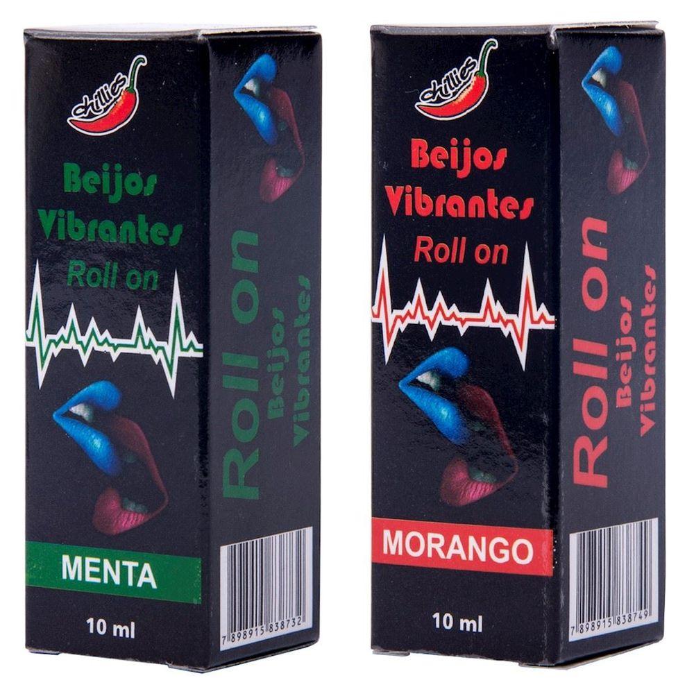 Produto Gel Beijavel Vibrante Roll On Moronga ou Menta
