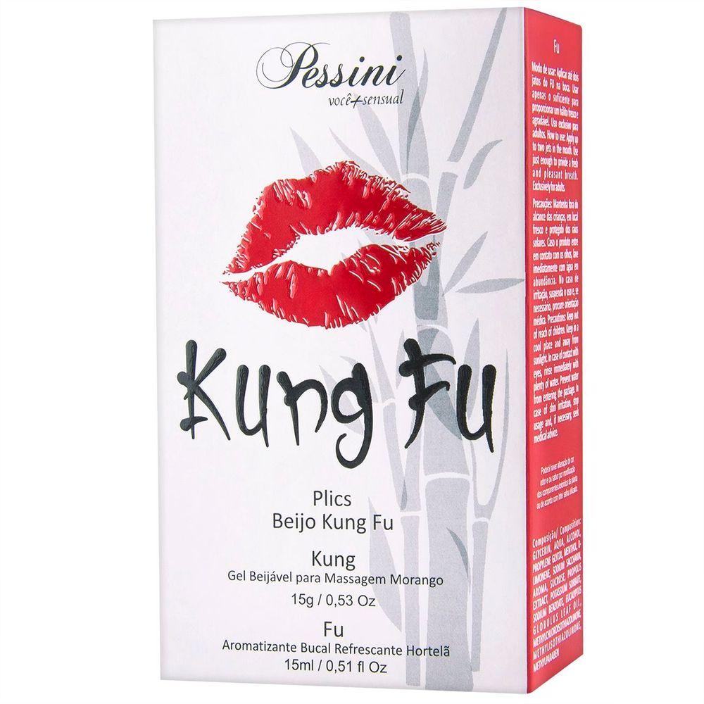 Kung fu gel beijavel para massagem morango